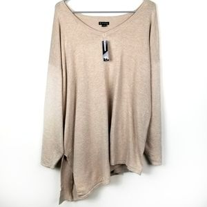 NWT New Directions Curvy 1X Sweater Asymmetrical